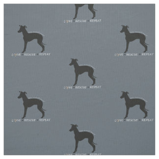 Italian Greyhound Dog  Rescue Fabric Iggy
