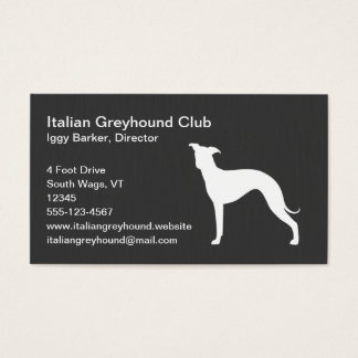 Italian Greyhound Dog Silhouette Business Card