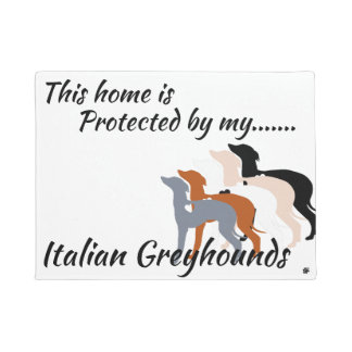 Italian Greyhound Door Mat