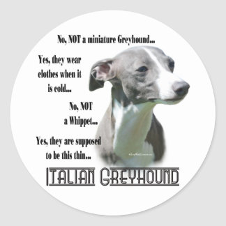 Italian Greyhound FAQ Sticker
