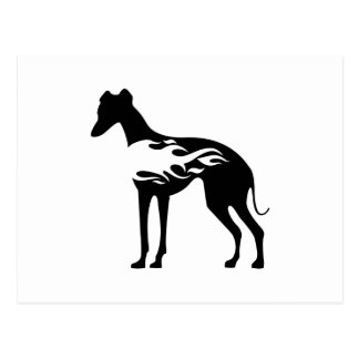 Italian Greyhound Flame Postcard