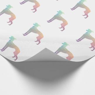 Italian Greyhound Geo Pattern Silhouette - Pastel