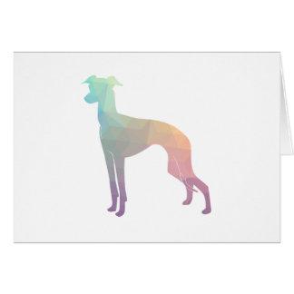 Italian Greyhound Geo Pattern Silhouette - Pastel Card