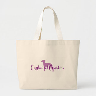 Italian Greyhound Grandma Large Tote Bag