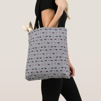 Italian Greyhound Grocery Tote Bag with Pink Iggys