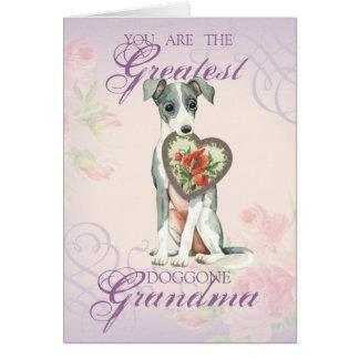 Italian Greyhound Heart Mom Card
