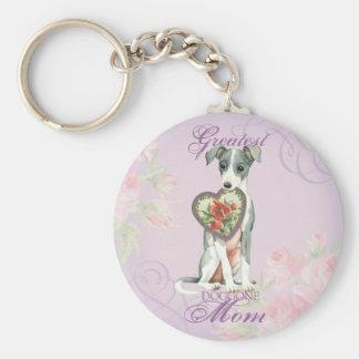 Italian Greyhound Heart Mom Keychain
