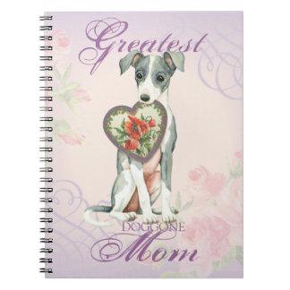 Italian Greyhound Heart Mom Notebooks