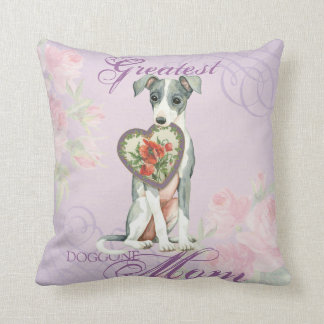 Italian Greyhound Heart Mom Throw Pillow