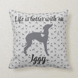 Italian Greyhound Home Pillow Iggy Rescue Dog.