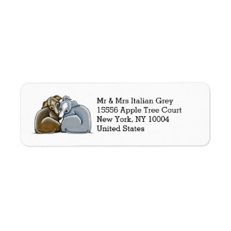 Italian Greyhound Huddle Custom Return Address Label