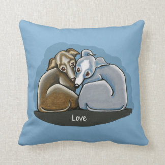 Italian Greyhound Huddle Throw Pillow