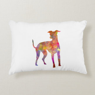 Italian Greyhound in watercolor Accent Pillow
