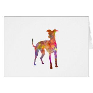 Italian Greyhound in watercolor Card