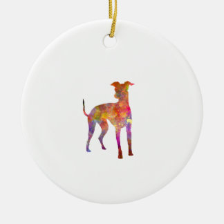 Italian Greyhound in watercolor Ceramic Ornament