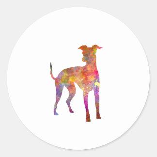 Italian Greyhound in watercolor Round Sticker