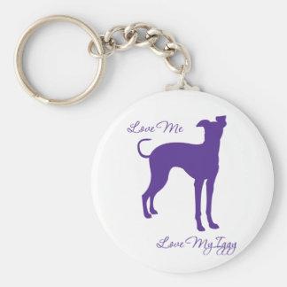 Italian Greyhound Keychain