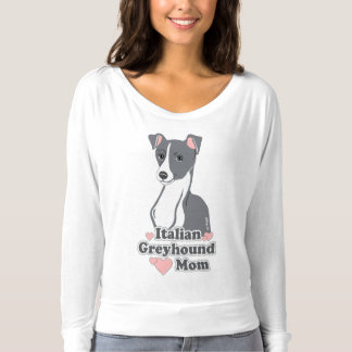 Italian Greyhound Mom Women's Off Shoulder Shirt