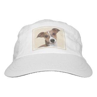 Italian Greyhound Painting - Cute Original Dog Art Hat