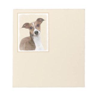 Italian Greyhound Painting - Cute Original Dog Art Notepad