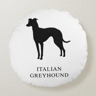 Italian Greyhound Round Pillow