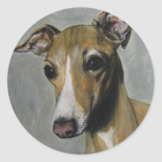 Italian Greyhound Round Sticker