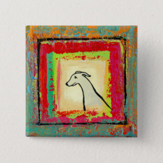 Italian Greyhound - Sensitive high strung dog art 2 Inch Square Button