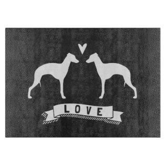 Italian Greyhound Silhouettes Love Boards