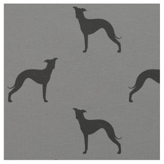 Italian Greyhound Silhouettes Pattern Fabric