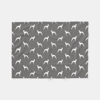 Italian Greyhound Silhouettes Pattern Fleece Blanket
