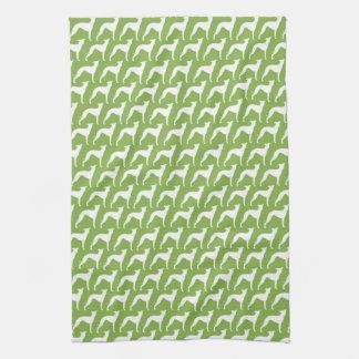 Italian Greyhound Silhouettes Pattern Kitchen Towel