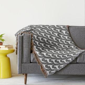 Italian Greyhound Silhouettes Pattern Throw Blanket