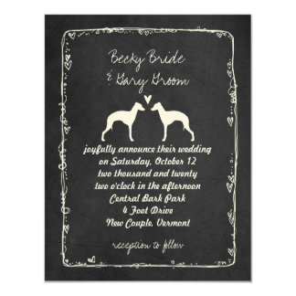 Italian Greyhound Silhouettes Wedding Announcement