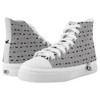 Italian Greyhound Sneaker Shoes with Pink Iggys