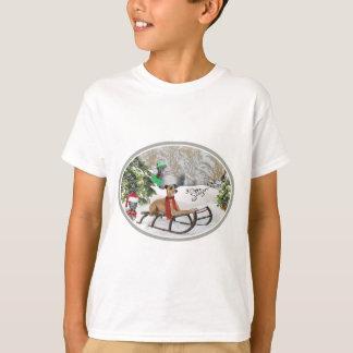 Italian Greyhound Snow Play Apparel T-Shirt