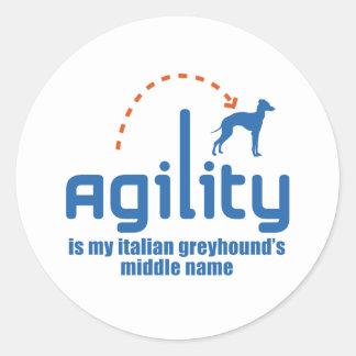 Italian Greyhound Round Sticker
