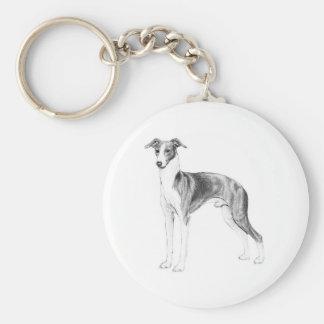 Italian Greyhound Style Keychain
