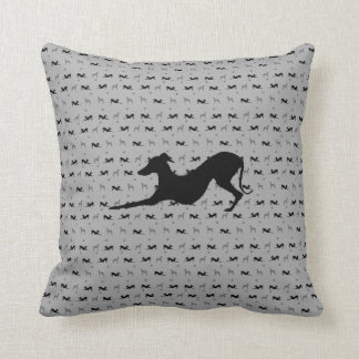 Italian Greyhound Throw Pillow with Laying Iggy
