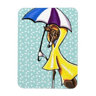 Italian Greyhound Umbrella Crazy Rectangular Photo Magnet
