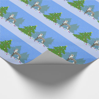 Italian Greyhound Whippet Decorating Christmas Tre Wrapping Paper