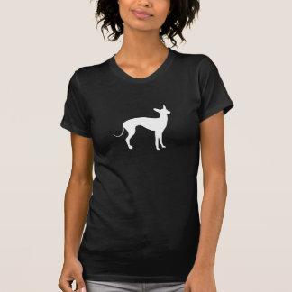 Italian Greyhound White on Black T-Shirt