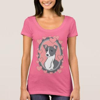 Italian Greyhound Women's Scoop Neck Pink T-Shirt
