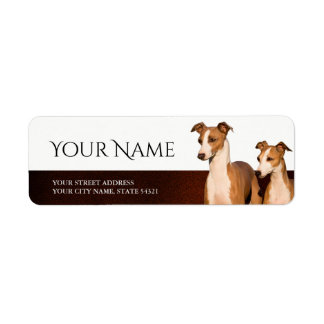 Italian Greyhounds Return Address Label