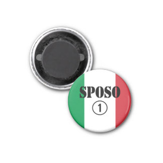 Italian Grooms : Sposo Numero Uno Fridge Magnet