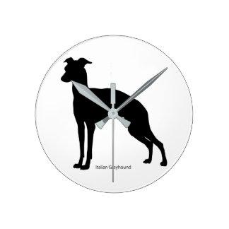 Italian gureihaundo clock Italian Greyhound clock