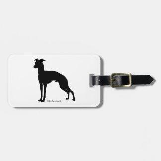 Italian gureihaundoragejitagu Italian Greyhound Bag Tag