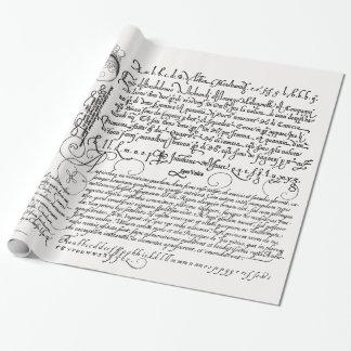 Italian Handwriting Calligraphy Vintage Art