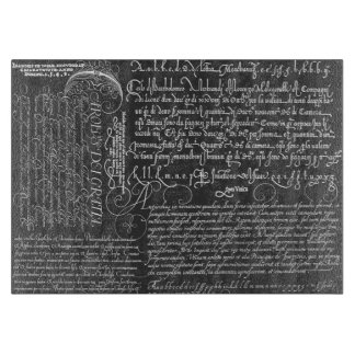 Italian Handwriting Calligraphy Vintage Art Cutting Board