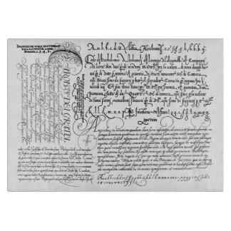 Italian Handwriting Calligraphy Vintage Art Cutting Boards