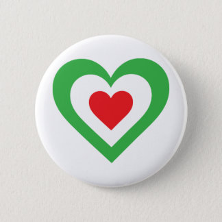 Italian Heart 2 Inch Round Button